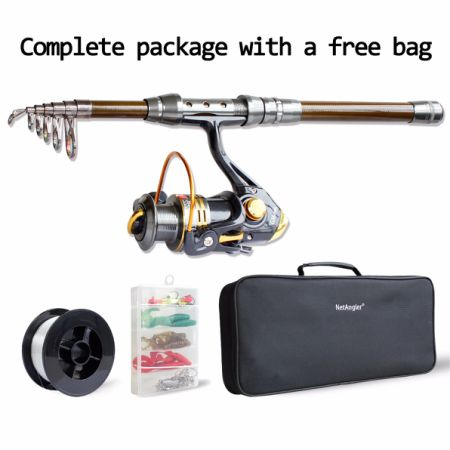 Shop for spinning fishing combo telescopic fishing for Fishing rod and reel case