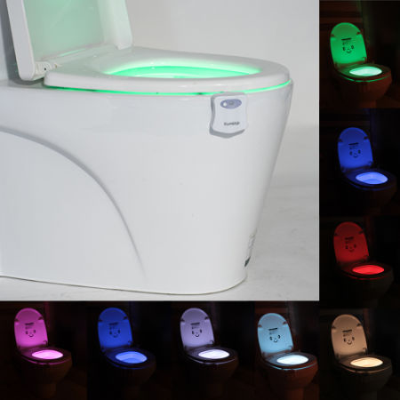 Shop For Toilet Seat Lights With 8 Color Changes Led