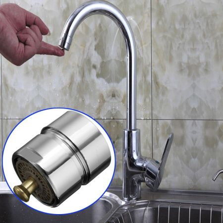 Shop for Brass Touch Control Faucet Aerator Water Valve Water Saving ...