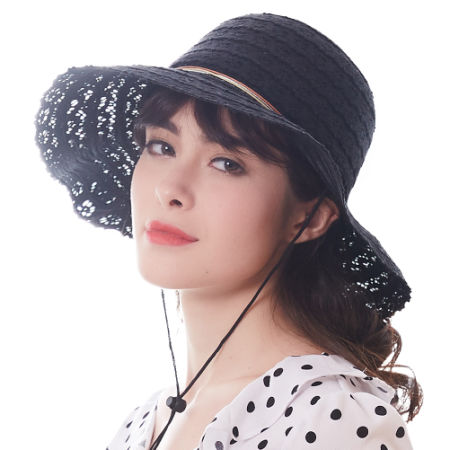 56ca62a8578b8e FURTALK Summer Hats for Women Fashion Design Women Beach Sun Hat Foldable  Brimmed Panama Hat SH023