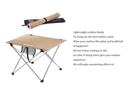 Naturehike Ultralight Folding Camping Picnic Table With Carrying Bag