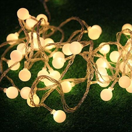 100 led globe string lights 33ft 10m 31v low voltage safety cherry ball fairy light strings - Low Voltage Christmas Lights