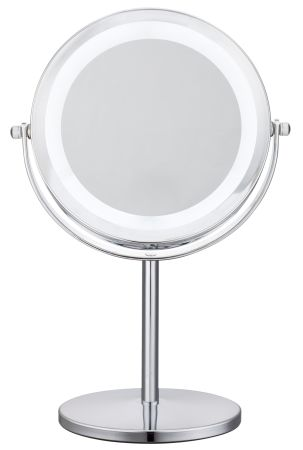 Cerdeco Lighted Makeup Mirror 1X/5X Magnify Two Sided Table Mirror Vanity  Mirror Battery