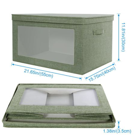 Charmant Lifewit 66L Foldable Larger Size Storage Box With Transparent Window Heavy  Duty Fabric Storage Bin Basket