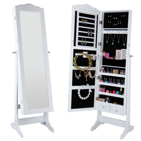 Shop for Lifewit Lockable Full Length Mirrored Jewelry Cabinet Wall