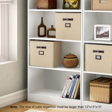 Lifewit Foldable Storage Cube With Labels, Polyester Cloth Storage Bins,  Drawer Basket Closet Organizer
