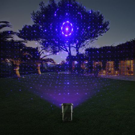 Outdoor Waterproof Laser Projector Light, Moving RGB 20 Patterns, with RF Remote Control, Perfect for Christmas, Lawn, Party, Patio, Yard, Garden Decoration