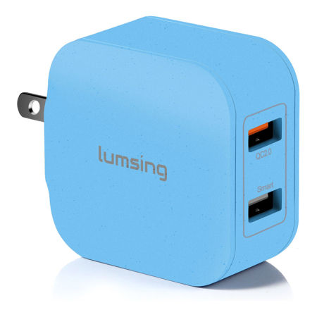 Lumsing Quick Charge 2 Port Wall Charger, 20W QC2.0 Dual USB Port Travel Charger for iPhone, Samsung Galaxy S5 S6 Edge Note 4 5, Google Nexus 6, Sony Xperia Z3 Z4 Tablet
