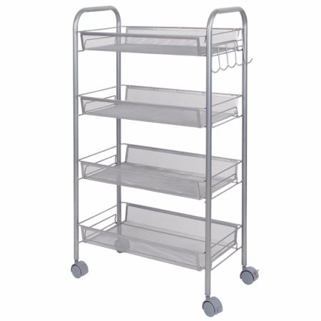 Lifewit 4 Tier Kitchen Rolling Cart Trolley Shelf Utility Storage Rack  Office