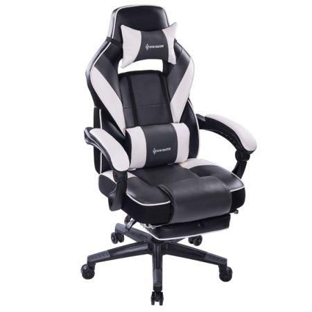 VON RACER Massage Reclining Gaming Chair   Ergonomic High Back Racing  Computer Desk Office Chair