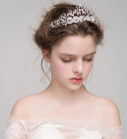 Shop for charming rhinestion accessories sliver crystal wedding charming rhinestion accessories sliver crystal wedding crown high quality japan and south korea art crowns for junglespirit Images