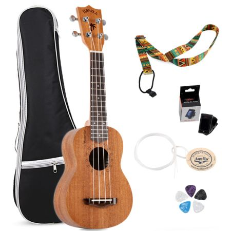 Shop For Aileen Winzz Plywood Soprano Hawaii Ukulele With Bag Tuner