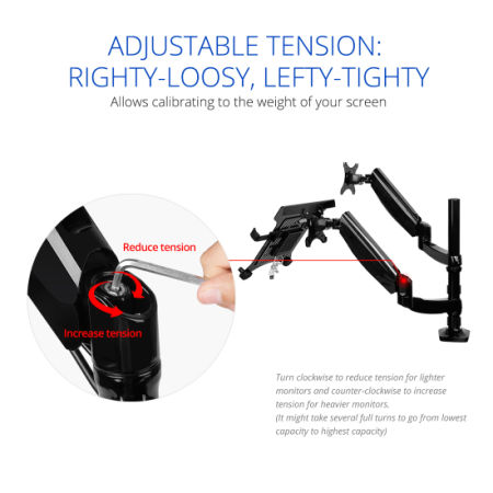 Shop for 2-in-1 FLEXIMOUNTS Height Adjustable Dual Arm LCD ...