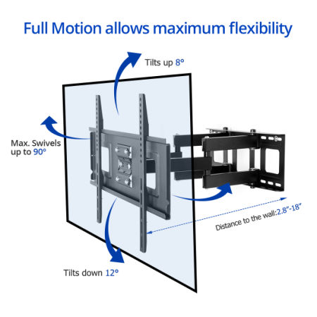 FLEXIMOUNTS A04H Full Motion Articulating TV Wall Mount Bracket for 32-65
