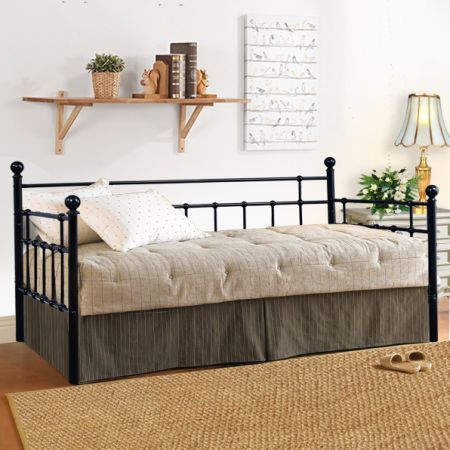 Shop for Twin Size Metal Daybed Frame Steel Slat Platform Base with ...