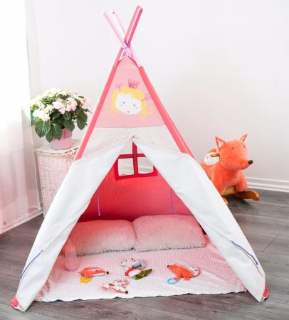Labebe Kids Teepee/ Playhouse/ Play Tent Extra Large 4u0027 with Solid Wood and & Shop for Labebe Kids Teepee/ Playhouse/ Play Tent Extra Large 4 ...