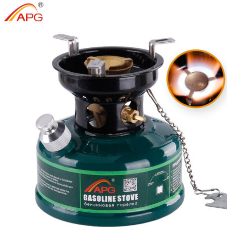APG Mini Camping Gasoline Stove Non Preheating No Noise Oil Stove Burner Outdoor 500ml