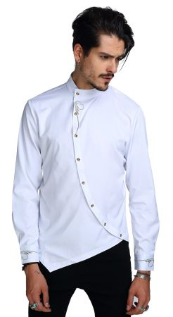 Shop for whatlees mens long sleeve extra long embroidery for Mens dress shirt monogram location
