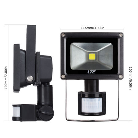 Shop For Motion Sensor Flood Light Lte 10w Waterproof Pir