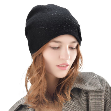 041ca8c50339f3 FURTALK winter wool women winter hat rabbit fur hats with double ling  skullies beanie for girls