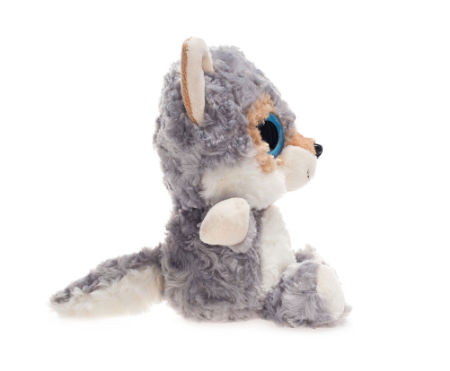 shop for big eyes grey wolf stuffed animal toys cuddly polyester fabric jungle animal best gift. Black Bedroom Furniture Sets. Home Design Ideas