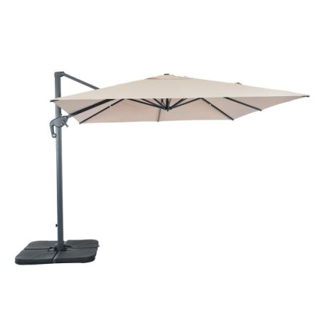 Suna Outdoor Patio Umbrella Square Offset Cantilever Umbrella 10 X 10 Feet,  Outdoor Patio