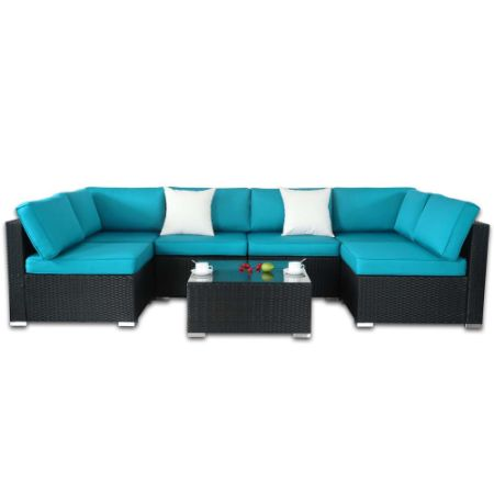 Outdoor Rattan Wicker Sofa Set Garden Patio Furniture Cushioned Sectional Conversation Sets Easy Embled