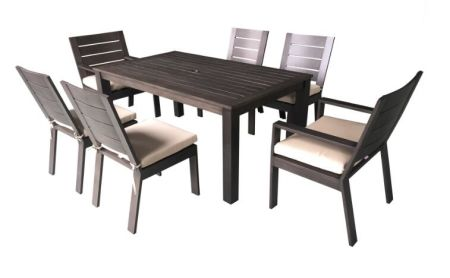 7pcs Cast Aluminum Dining Set