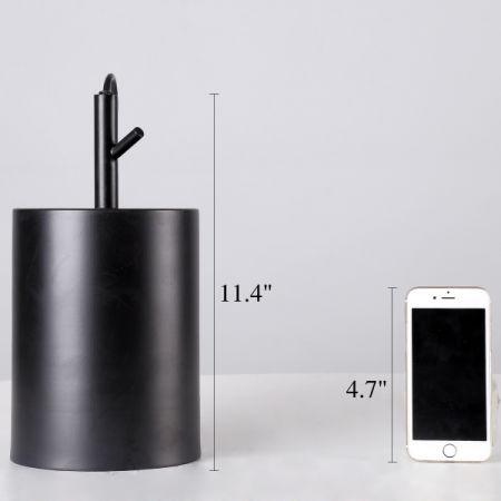 Homiforce Vintage Style 1 Light Black Cylinder Pendant With Metal Shade In Matte