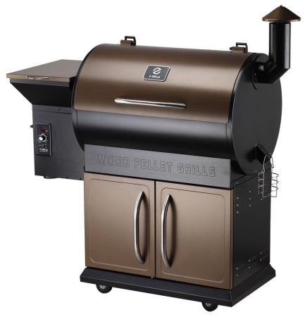 Z Grills Wood Pellet Grill & Smoker with Patio Cover, 700 Cooking Area 7 in 1- Grill, Smoke, Bake, Roast, Braise and BBQ with Electric Digital Controls for Outdoor (Black and Bronze)