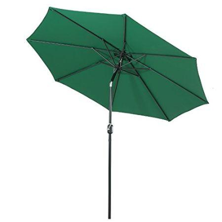 Beau Aluminum Patio Umbrella UV Protection Outdoor Table Market Umbrella With  Push Button