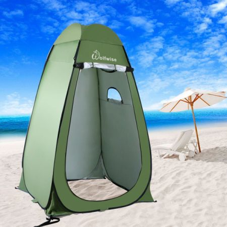 WolfWise Lightweight Instant Pop-Up Privacy Tent Outdoor Camping Dressing Tent Private Shelter Portable Bathroom