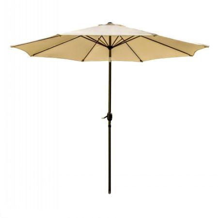 SNAIL 9 Foot Outdoor Tilting Patio Umbrella Pool Deck Garden Table Shade  Umbrella, Beige