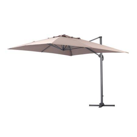 Green Garden Deluxe 10 X 10 Feet Cantilever Offset Patio Umbrella Square  Parasol Infinite Tilt Position