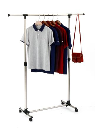 Rolling Clothes Rack Adjustable Garment Portable Hanging For With Wheels
