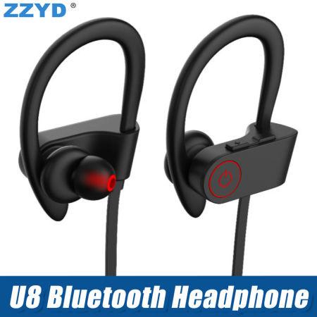 618735a28f3 ZZYD Amazon Top Sell Wireless Headset V4.1 Ear Hook Headphone Earbuds B  Wireless Sweatproof