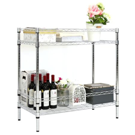 Shop for Kinbor Chrome Steel Wire Stand Adjustable Shelf Kitchen ...