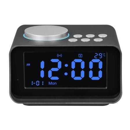 Digital Alarm Clock Radio Bluetooth Speaker With TF Card Slot/ Thermometer/  Snooze LCD Display