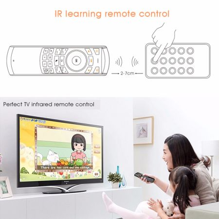 Rii K25 Multifunction Portable 2.4GHz Mini Wireless Fly Mouse Keyboard and Infrared Remote Control with Rechargeable Li-ion Battery