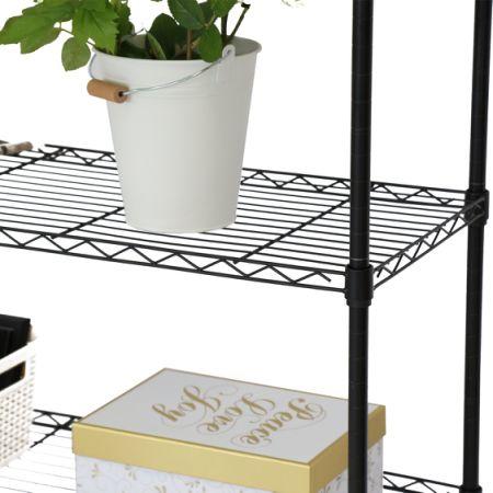 Kinbor Black 5-Layer Wire Metal Shelf Adjustable Shelving Storage Rack w/Wheels & Shop for Kinbor Black 5-Layer Wire Metal Shelf Adjustable Shelving ...
