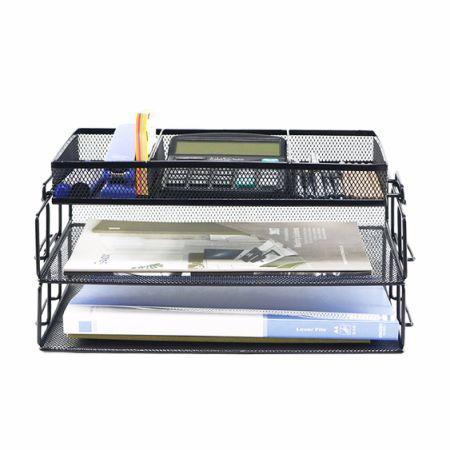 desk office file document paper. GRANDIX 3-Tier File Desktop Tray, Paper Desk Tray Organizer Mesh Document Office S