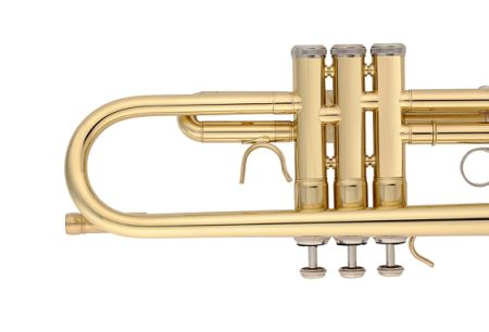 Aileen Lexington Gold Bb Key Student Model Trumpet Includes Hard Case, Cleaning Rod and Cloth, Gloves