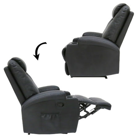 shop for kinbor recliner massage sofa chair deluxe ergonomic lounge