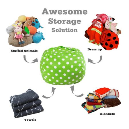 shop for kids stuffed animal storage bean bag chair 100 cotton canvas storage bag perfect. Black Bedroom Furniture Sets. Home Design Ideas