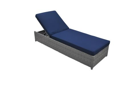 Wicker Single Chaise Lounge