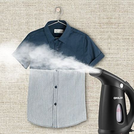 OPOLAR Portable Mini Ironing Clothes Hand-held Garment Steamers 110V-120V (Fast Steaming , Overheat Protection, Travel-Friendly)