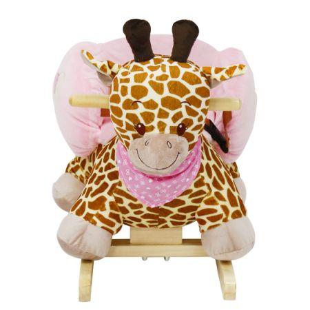 Genial Kinbor Kids Rocking Animal Ride On Rocking Plush Giraffe Theme Chair With  Sound