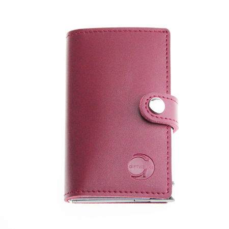 Shop for credit card holder rfid blocking wallet slim wallet leather credit card holder rfid blocking wallet slim wallet leather aluminum business card holder automatic side slide reheart Gallery