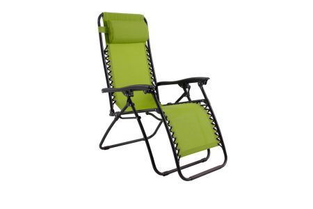 PHI VILLA Padded Zero Gravity Lounge Chair Patio Foldable Adjustable  Reclining For Outdoor Yard Porch Green