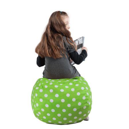 Kids Stuffed Animal Storage Bean Bag Chair 100% Cotton Canvas Storage Bag  Perfect Storage